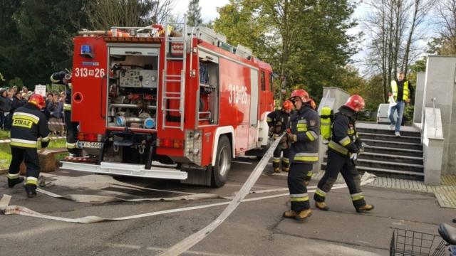 Straż pożarna na pokazach ppoż